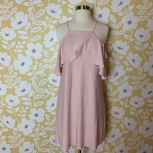 Zara off the shoulder pink dress